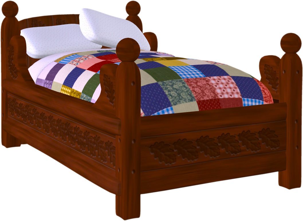 Cozy Bed Clipart. Follow us.