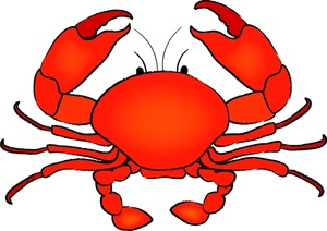 Crab And Shrimp Clipart #1