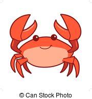 . ClipartLook.com Cute cartoon smiling crab - Vector hand drawn cartoon.