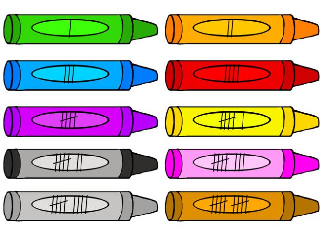 Crayon clipart ten #1