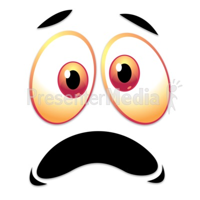 Crazy Scared Face PowerPoint Clip Art