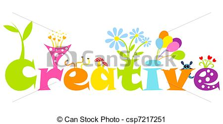 Creative abstract concept - colorful living letters. Vector... Creative Clipartby ...