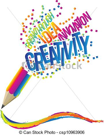 ... Creativity concept with colorful pencil and creative theme.