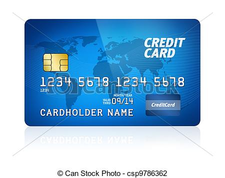 Credit Card Isolated - csp9786362