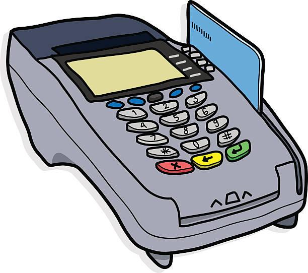 Credit Card Reader Drawing Clip Art, Vector Images u0026 Illustrations