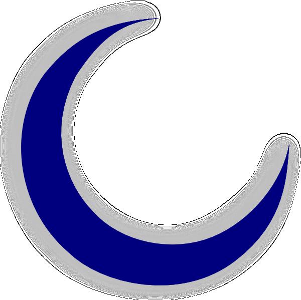 Crescent Moon Clip Art At Clker Com Vector Clip Art Online Royalty