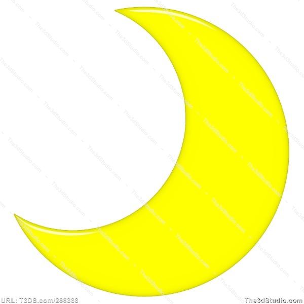 Crescent Moon Clipart .