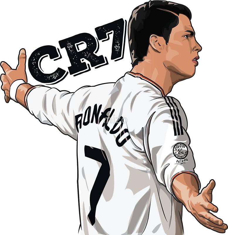 CR7 Cristiano Ronaldo Real Madrid Stickers by mizo