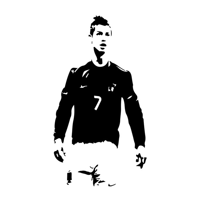 Cristiano Ronaldo player graphics design SVG DXF EPS Png Cdr Ai Pdf Vector  Art