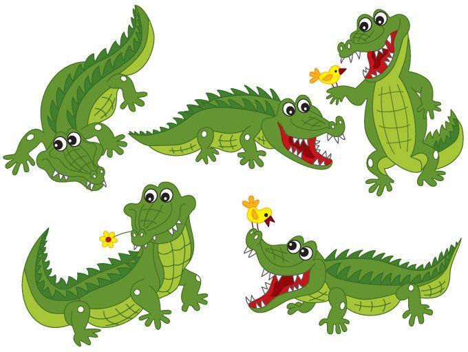 70% OFF SALE Crocodile Clipart - Digital Vector Crocodile, Africa, Safari,  Alligator