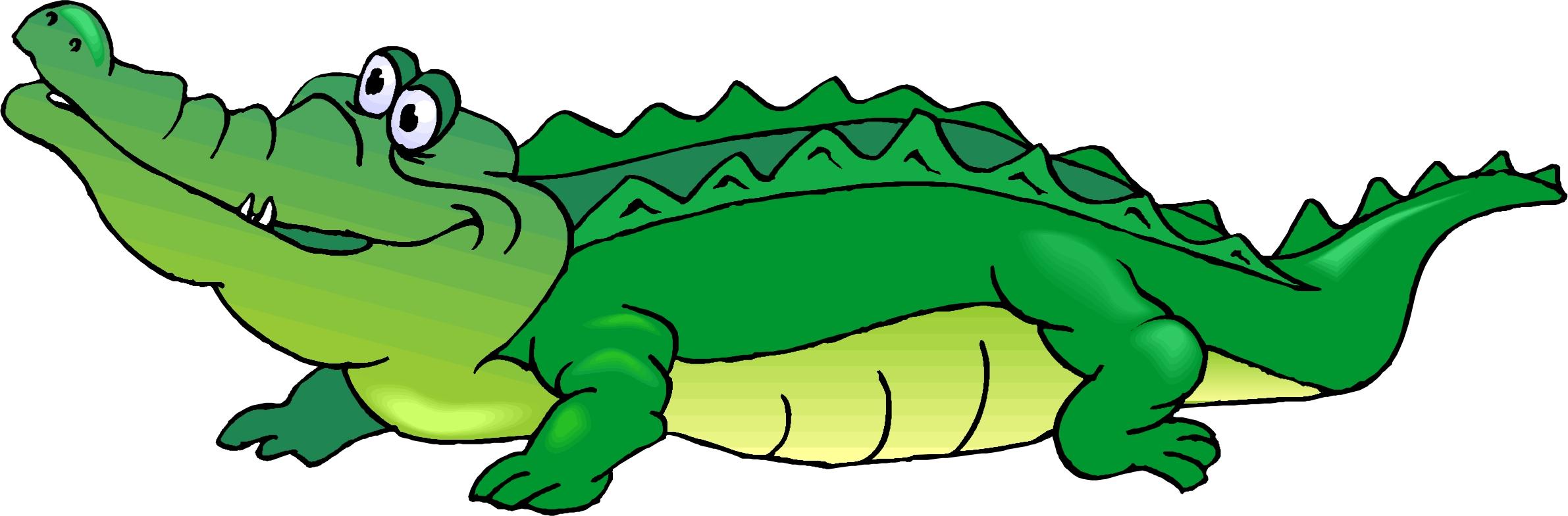Cartoon Crocodile Clipart #1