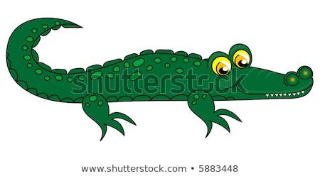 Crocodile clip-art.