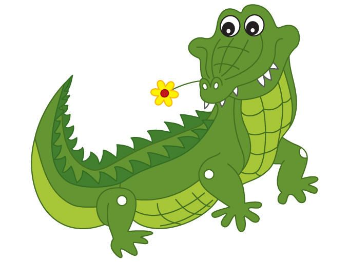 Crocodile Clipart - Digital Vector Crocodile, Animal, African, Safari, Crocodile  Clip Art for Personal and Commercial Use #thecreativemill