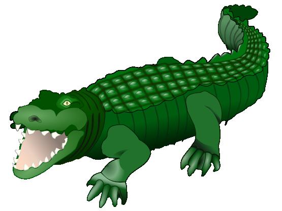 Crocodile free to use clipart