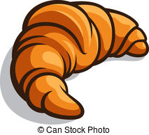 Croissant - Delicious baked croissant isolated on a white.
