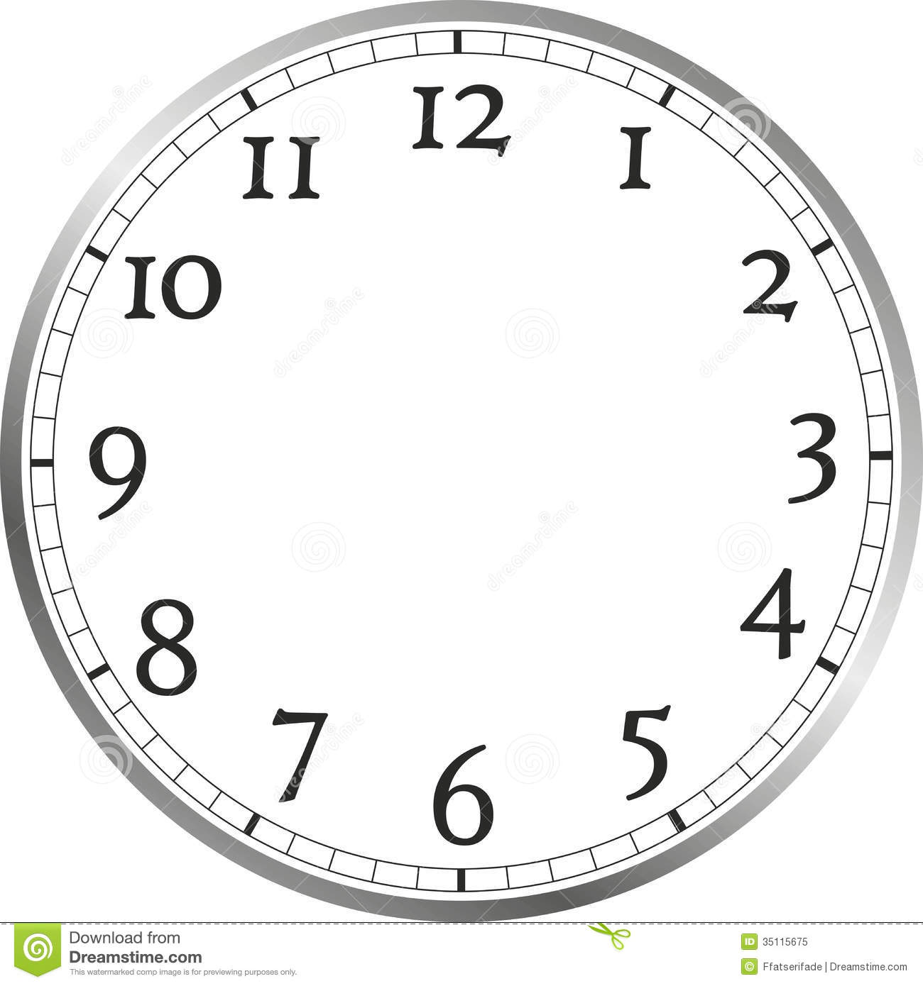 Cross Clip Art Clock Face