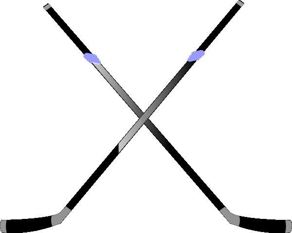 ... Crossed hockey sticks clipart ...