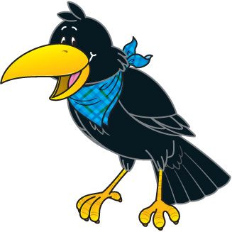 Crow Clip Art Black And White | Clipart Panda - Free Clipart Images