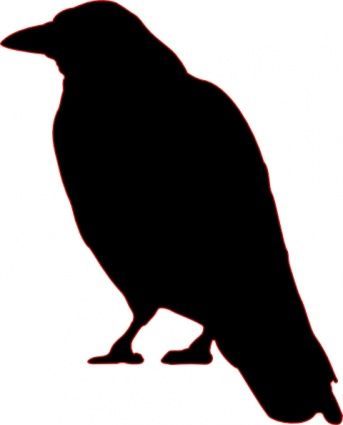 Crow silhouette printable clip art (Source : http://www.easyvectors.