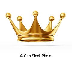 ... crown - golden crown isolated on a white background