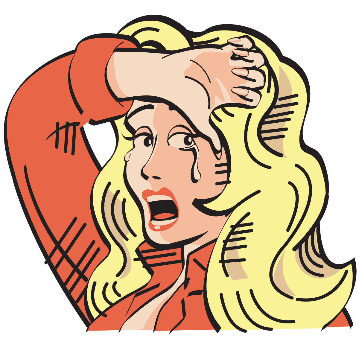 Crying girl clip art clipart