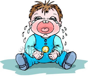 crying kid clipart