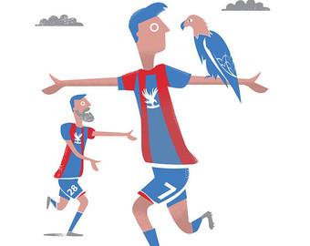 Crystal Palace FC card / Football card