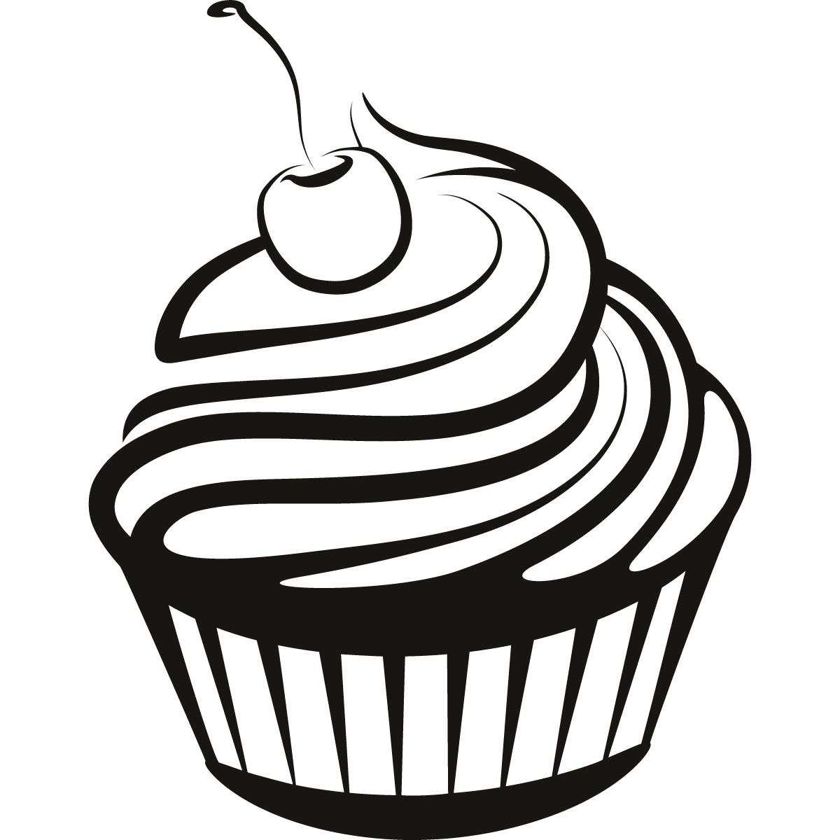 Black And White Cupcake Drawing Cupcake Black And White Cupcake Drawings  And Cupcakes Clipart