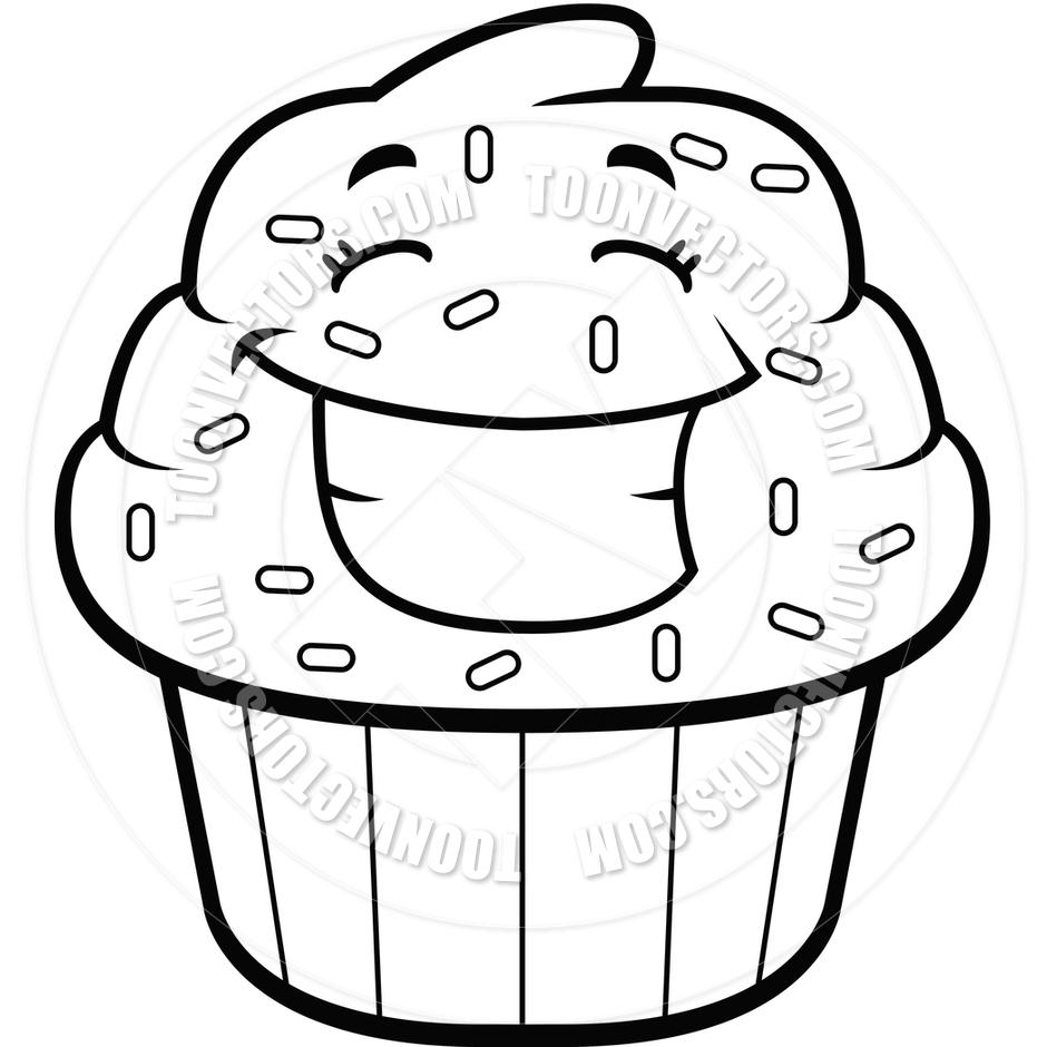 Black And White Cupcake Drawing Cupcake Clipart Black And White | Clipart  Panda u2013 Free Clipart