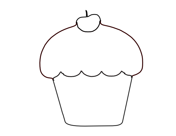 Briliant Cupcake Clipart Blac - Cupcake Clipart Black And White