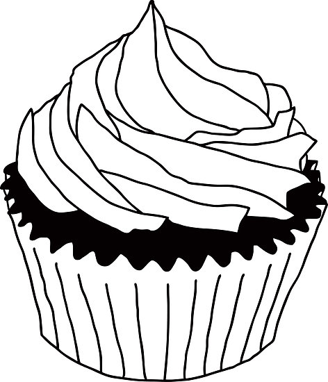 Cupcakes Clipart Black And Wh - Cupcake Clipart Black And White
