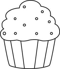 Muffin clipart black and whit - Cupcake Clipart Black And White