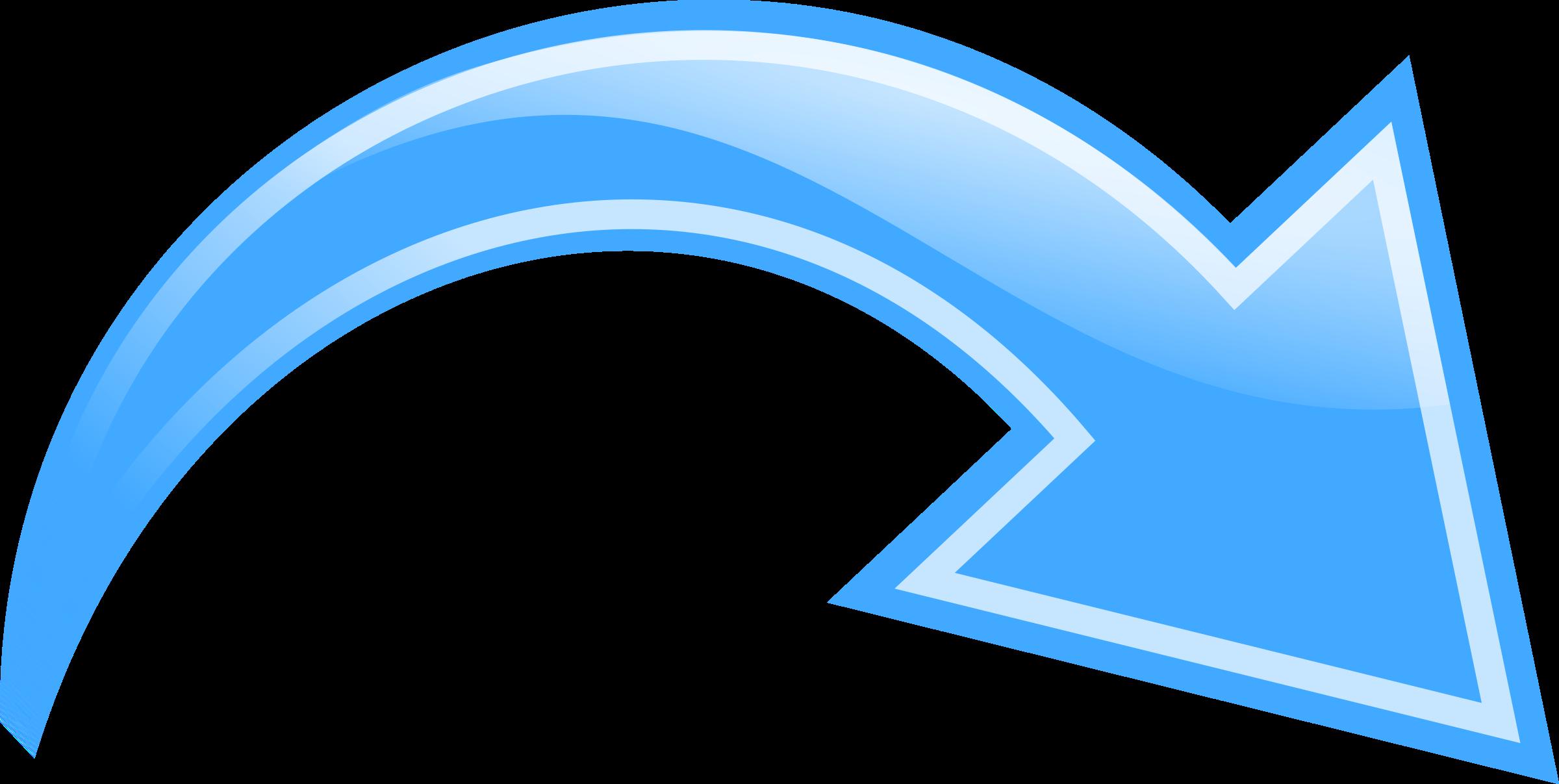 Curved Arrow Blue