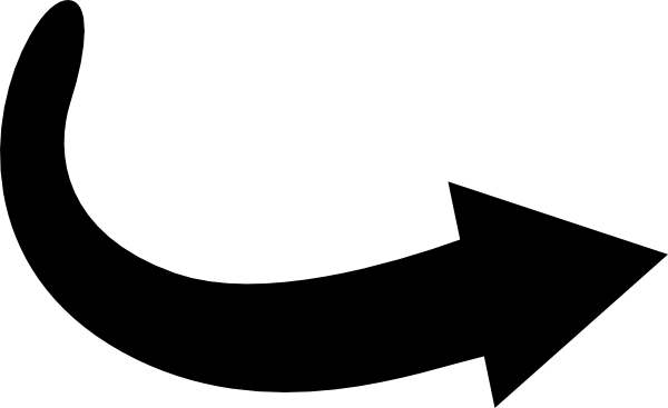 Curved Arrow Clipart this ima - Curved Arrow Clipart