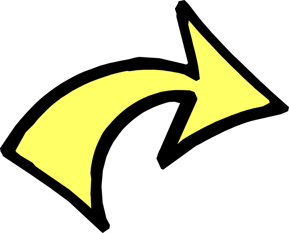 Free Stock Photos | Illustration of a curved right yellow arrow