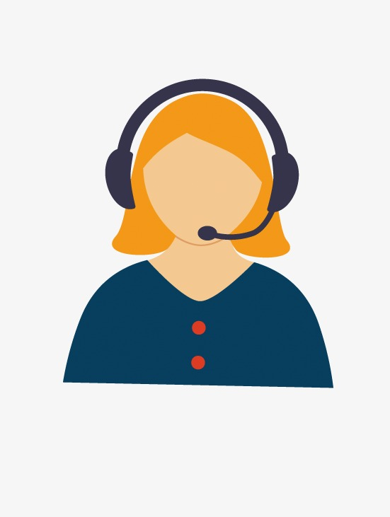 cartoon female customer service, Customer Service, Service, Communication  PNG Image and Clipart