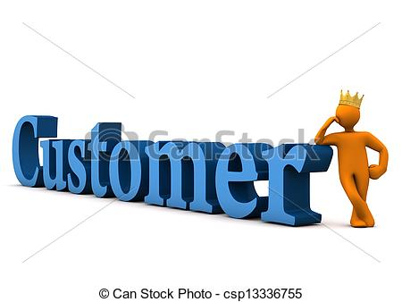 Customer With Crown - csp13336755