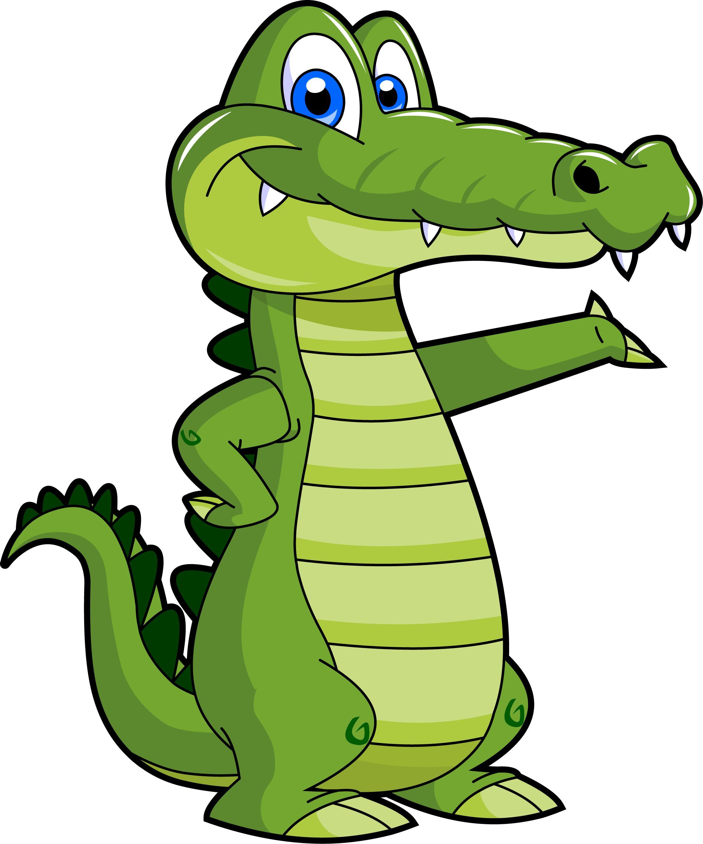 cute alligator clipart
