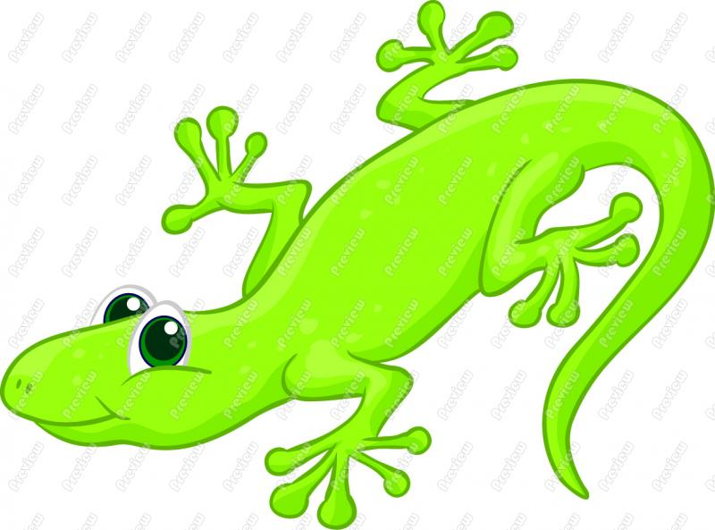 cute lizard clipart