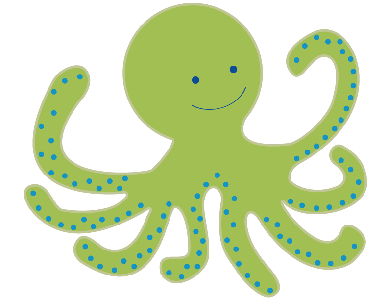 cute octopus clipart