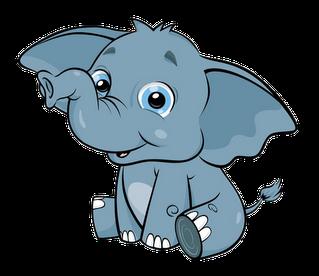 Cute baby elephant clip art clipart clipartall