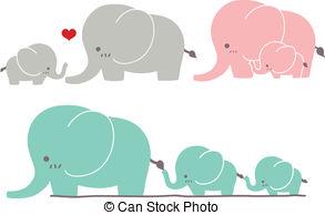 Cute baby elephant clipart kid