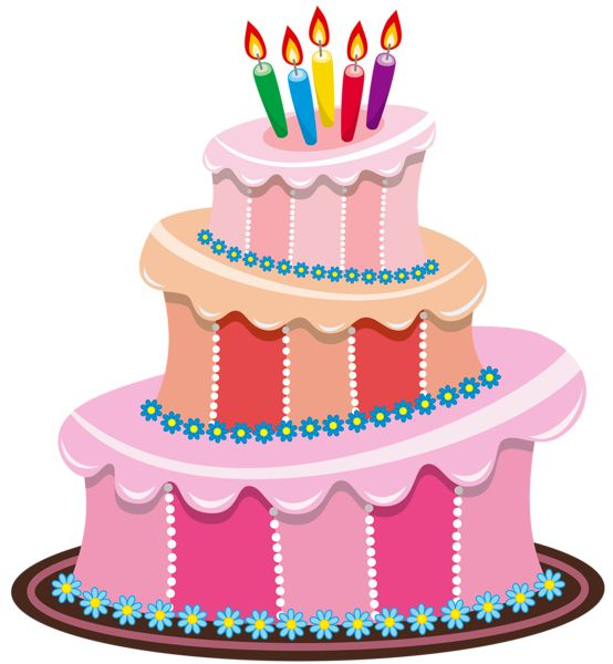Cute Birthday Cake Clipart | Gallery Free Clipart Pictureu2026 Cakes PNG Pink Birthday Cake P