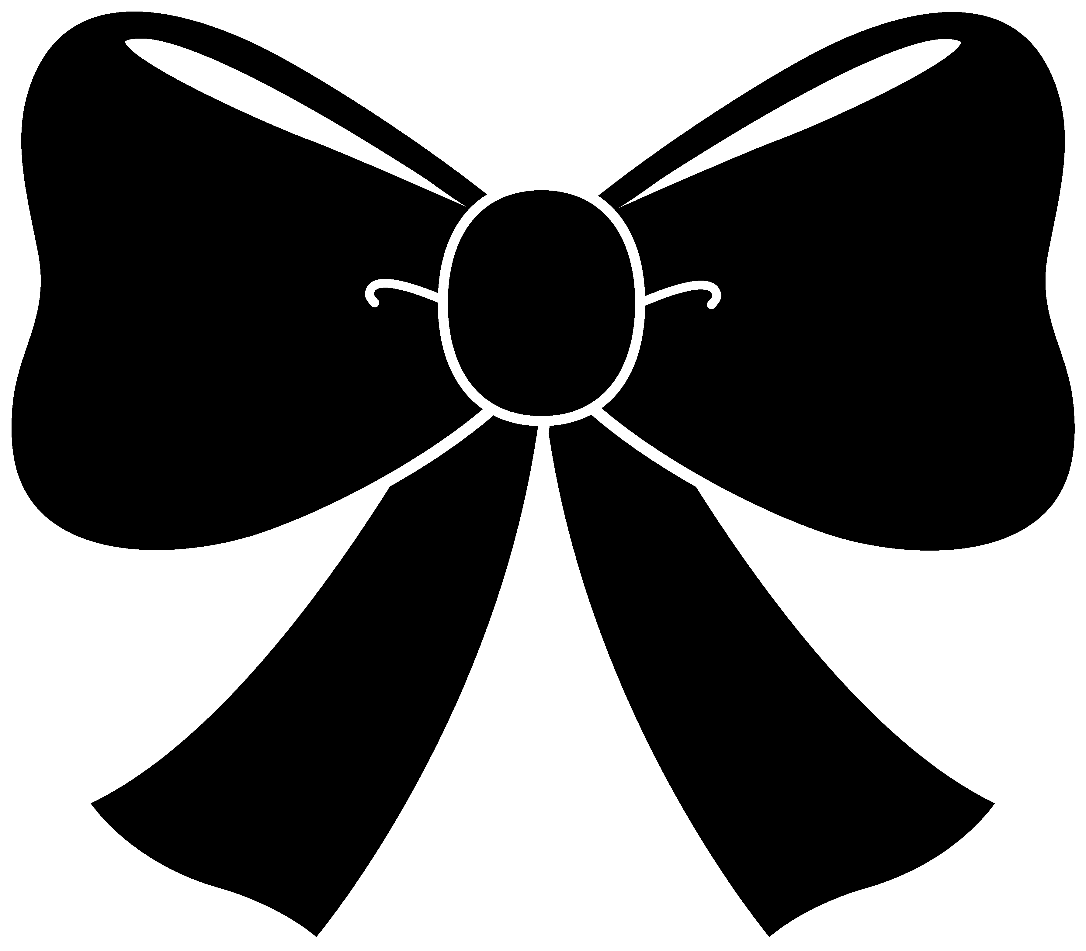 Cute Black Bow Clipart