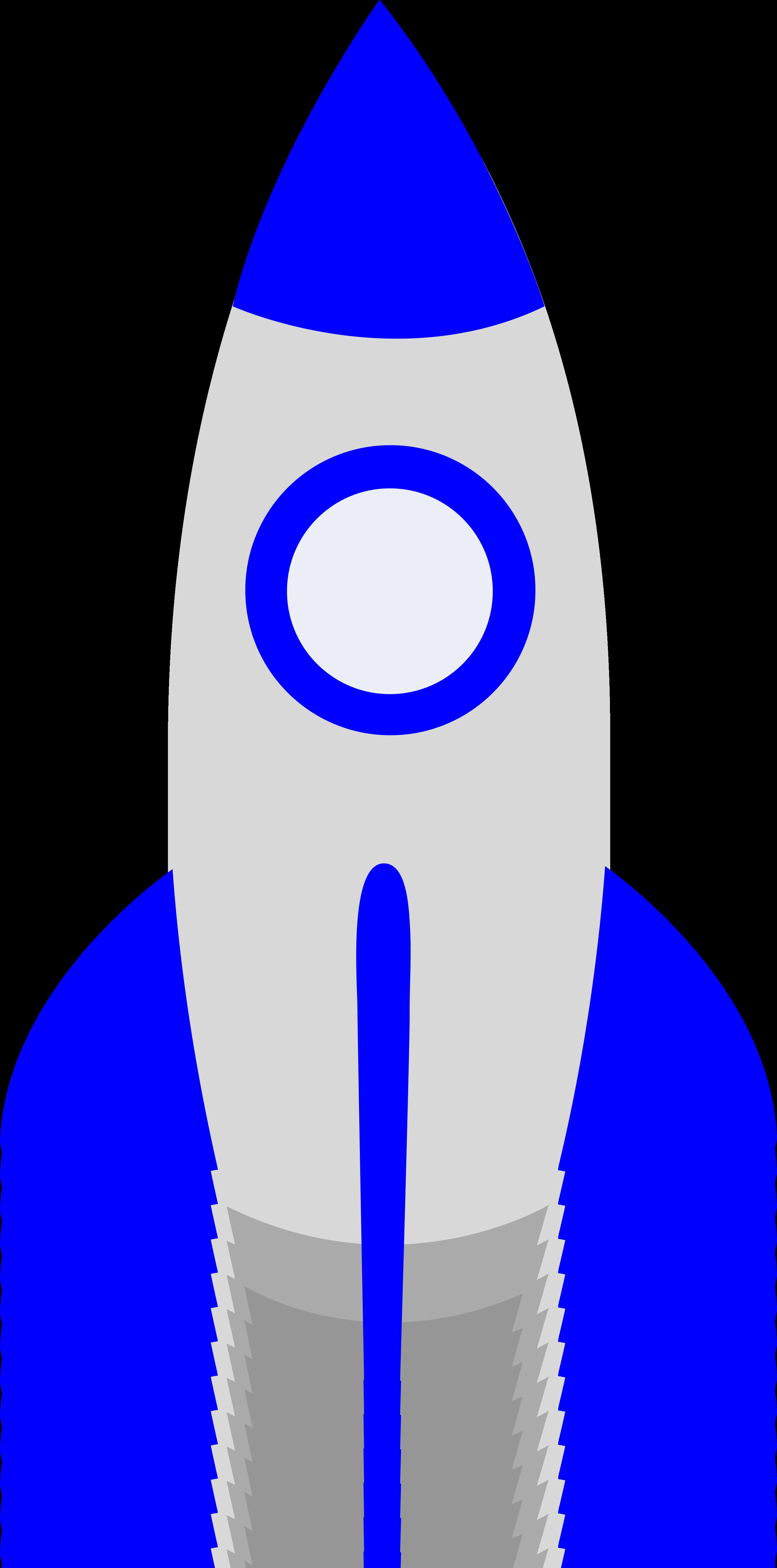 Cute Blue Retro Rocket   Thema .