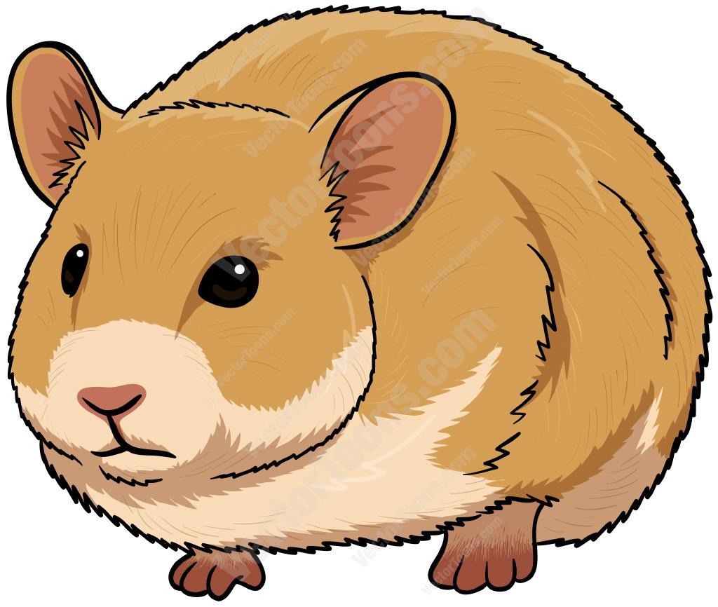 Cute Brown Hamster Cartoon Stock Clipart