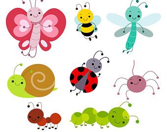 Cute Bug Digital Clipart Bug Clipart Bug Clip Art Instant