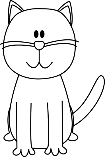 Cute Cat Clip Art Black And Whitechild Of Artemis