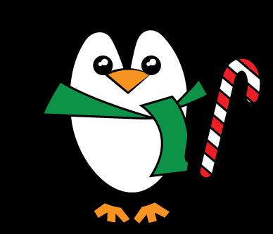 Cute christmas penguin clipart kid
