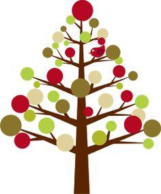 Cute christmas tree clipart - .